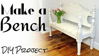 Make A Bench From A Bed - DIY Project