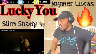 Eminem - Lucky You ft. Joyner Lucas  (Official Video) REACTION