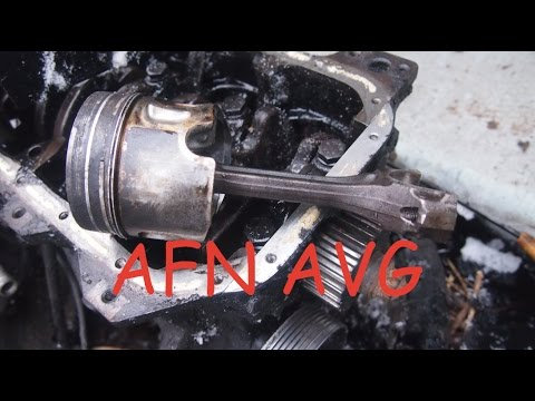 Снятие поршня двигателя Volkswagen 1.9 TDI AFN AVG