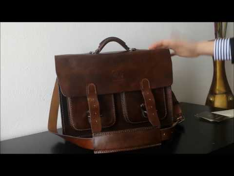 unboxing white buffalo republic s 16 thayne briefcase in antique