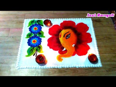 ganesh chathurthi rangoli design by jeet rangoli