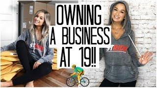 Day in the Life of a Teenage Business Owner | Fitness Vlog | PLANT BASED Grocery Haul
