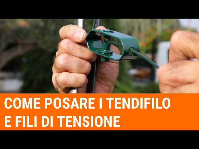 How to install tension wires and tensioners