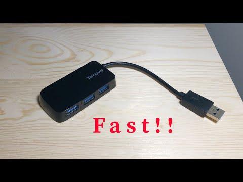 USB 3.0 HUB 5GBPS SPEED! Targus 4 port usb hub Review & Unboxing