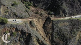 Drone Footage Shows Collapse of Highway 1 Near Big Sur