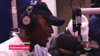 Msawawa And Mzambiya Perfom Ther New Hit On The DJSbuBreakfast