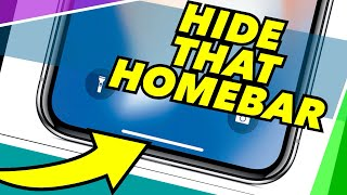 Hide & Disable the Home Bar on iPhone X WITHOUT Jailbreaking!  Easy Guide!