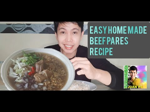 EASY HOME MADE BEEF PARES / COOKING RECIPE AND MUKBANG / HEALTHY JUAN PH