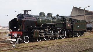 preview picture of video 'Le retour de la locomotive 230 G 353. Épernay 07/03/2014'