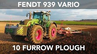 Fendt 939 Vario - Ploughing