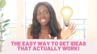 How to come up with the best business ideas to make money