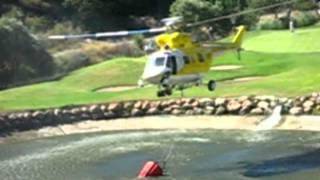 preview picture of video 'Hubschrauber Löschhubschrauber bekämpfen Feuer Fire Peguera Paguera Mallorca Helikopter'