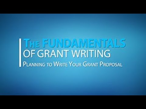 Lesson 1: Planning to Write Your Grant Proposal