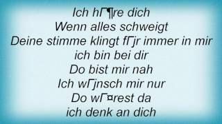 2raumwohnung - Ich Denk An... Lyrics