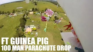 Flite Test Guinea Pig 100 Man Parachute Drop