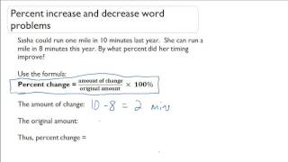 Percent increase and decrease word problems