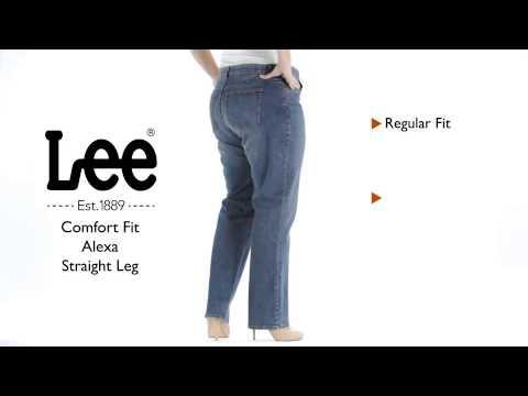 Lee Jeans - Comfort Fit Alexa Straight Leg Jean - Plus