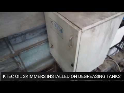 Degreasing Tanks Oil Removal Systems