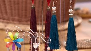 Смотреть онлайн Как сделать сережки-кисточки своими руками