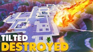 TILTED TOWERS DESTROYED by Meteor Strike In Fortnite Battle Royale!