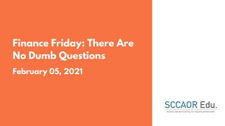 Finance Friday: There Are No Dumb Questions – February 5, 2021