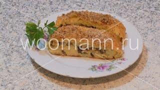 Рулет картофельный овощной (с грибами и рисом)
