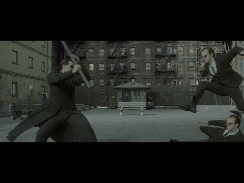 The Matrix Reloaded (2003) (4K HDR) - Advanced CGI stunt double and photogrammetry