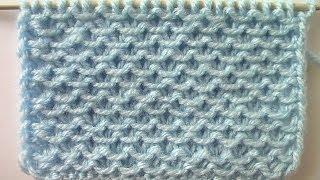 Смотреть онлайн Схема вязания узора «кольчуга» спицами