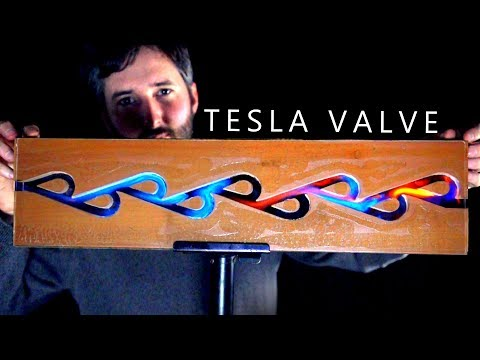 Tesla Valve Explained With Fire