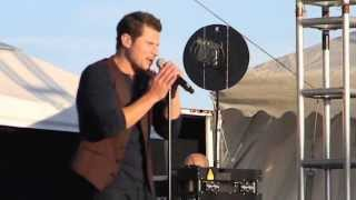98 Degree's singing Microphone on July-29-2013 in Mount Pleasant, MI at Soaring Eagle Casino