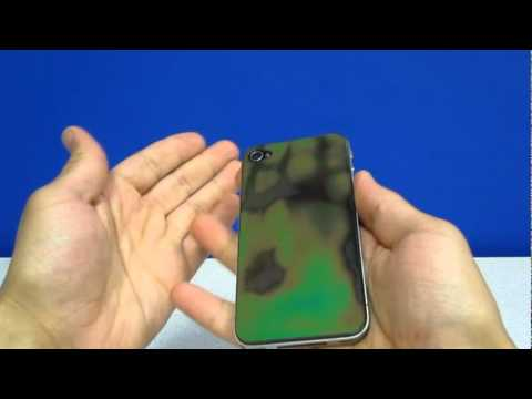 An iPhone 4 Backing That Magically Changes Colours To Your Touch