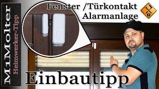 Fenster / Türkontakt für Funk Alarmanlagen - Ratgeber Einbau von M1Molter