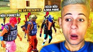 FREE FIRE TESTE SOCIAL: ME FINGI DE POBRE VEJA NO QUE DEU!!!
