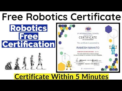 Robotics Free Certification   Verified Certificate   Free Certificate ...