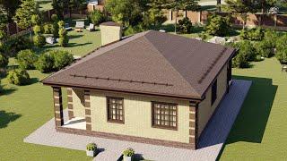 Проект дома 100-C, Площадь дома: 100 м2, Размер дома:  10х13,5 м