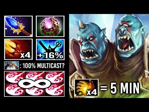 NEW IMBA 75% MULTICAST 7.22 Scepter Ogre Magi vs Sniper Mid Gold Digger 4x Ding Ding Ding Dota 2