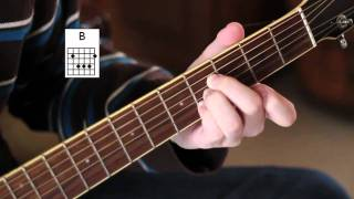 """How to play the """"B chord"""" - Easy Beginner Guitar Lessons (w/ demonstration)!"""