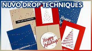 NUVO DROPS: Tips & Techniques For Easy Christmas Card Making