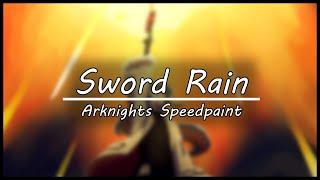 Texas  - (Arknights) - Sword Rain [Arknights Speedpaint]
