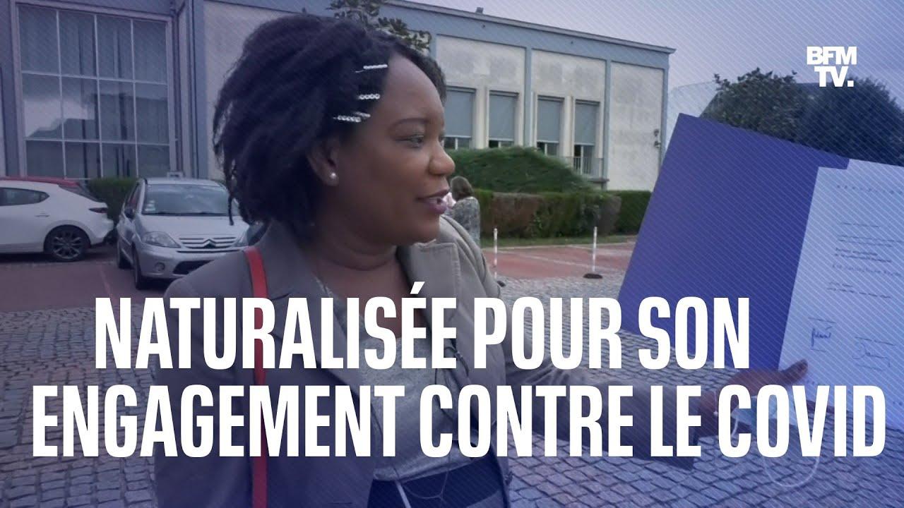 Cette Aide-soignante d'origine haïtienne a été naturalisée pour son rôle lors de la crise sanitaire