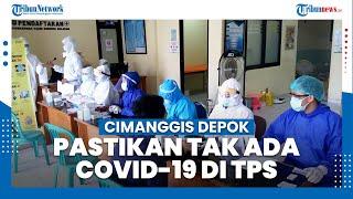 Pastikan Tidak Ada Covid-19 di TPS, Petugas KPPS dan Linmas Lakukan Tes Rapid di Cimanggis Depok