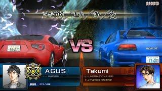 Initial D Arcade Stage 7 AAX GT86 (ZN6) VS Impreza STi Ver.V (GC8)
