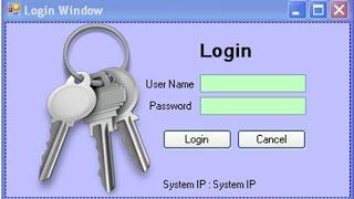 Create Login Window in C# step by step