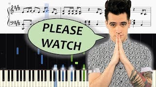 Panic! At The Disco   (Fuck A) Silver Lining   ADVANCED Piano Tutorial + SHEETS