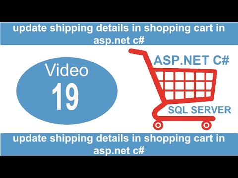 update shipping details in aspnet csharp