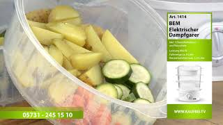 Elektrischer Dampfgarer: Dampf | 3 Etagen | ohne Fett | Garen | Gesund | Fisch | Gemüse