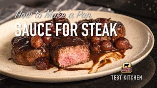 Pan Sauce for Steak | Red Wine Reduction Sauce Recipe