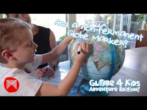 Micador jR. Globe4Kids - Blue Ocean, 30cm Adventure Edition