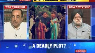 The Newshour VersusSunanda Pushkar Death  Subramanian Swamy Vs KTS Tulsi 10th Oct 20140