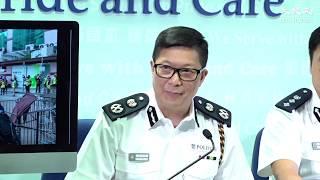 【反送中】警方記者會一大堆官話被傳媒狂轟後 鄧炳強首次承認警員假扮示威者